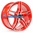18x8 5x114.3 ET45 d72.5 Borbet XRT Red Front Polished