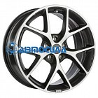 19x8.5 x120 ET32 d82 BBS SR Vulcano grey diamond cut