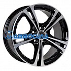 18x8 5x112 ET50 d72.5 Borbet XL Black polished