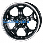 20x10.5 5x120 ET35 d72.6 Alutec Boost Diamant black with stainless steel lip