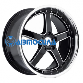 19x8 5x108 ET40 d72 TSW Carthage Gloss Black Mirror Lip Milled Spokes