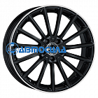 19x8 5x112 ET43 d66.6 MAK Komet Gloss Black Mirror Ring