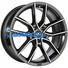 18x8.5 x112 ET35 d82 BBS XA Black + Diamond Cut
